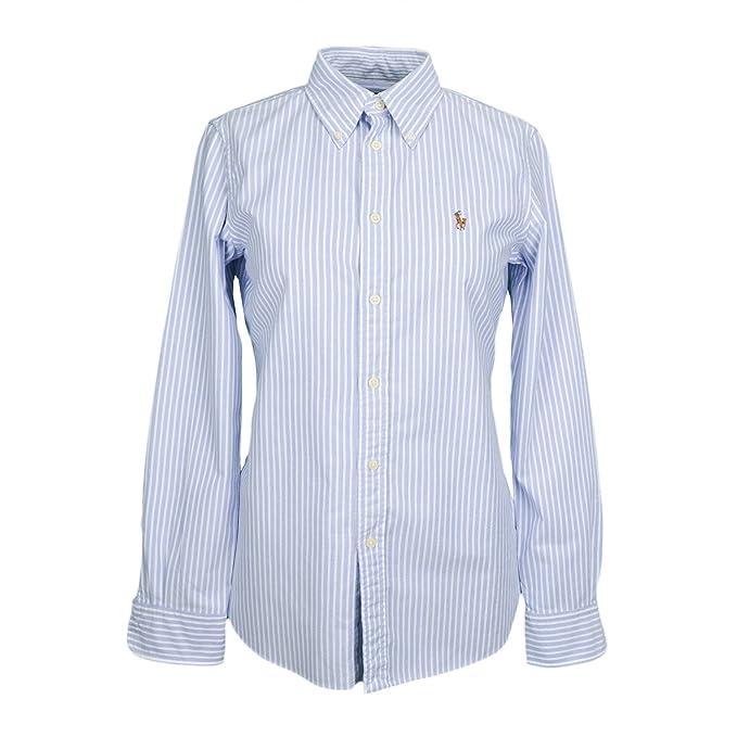 Ralph Lauren - Camisas - para Mujer Azul L: Amazon.es: Ropa ...
