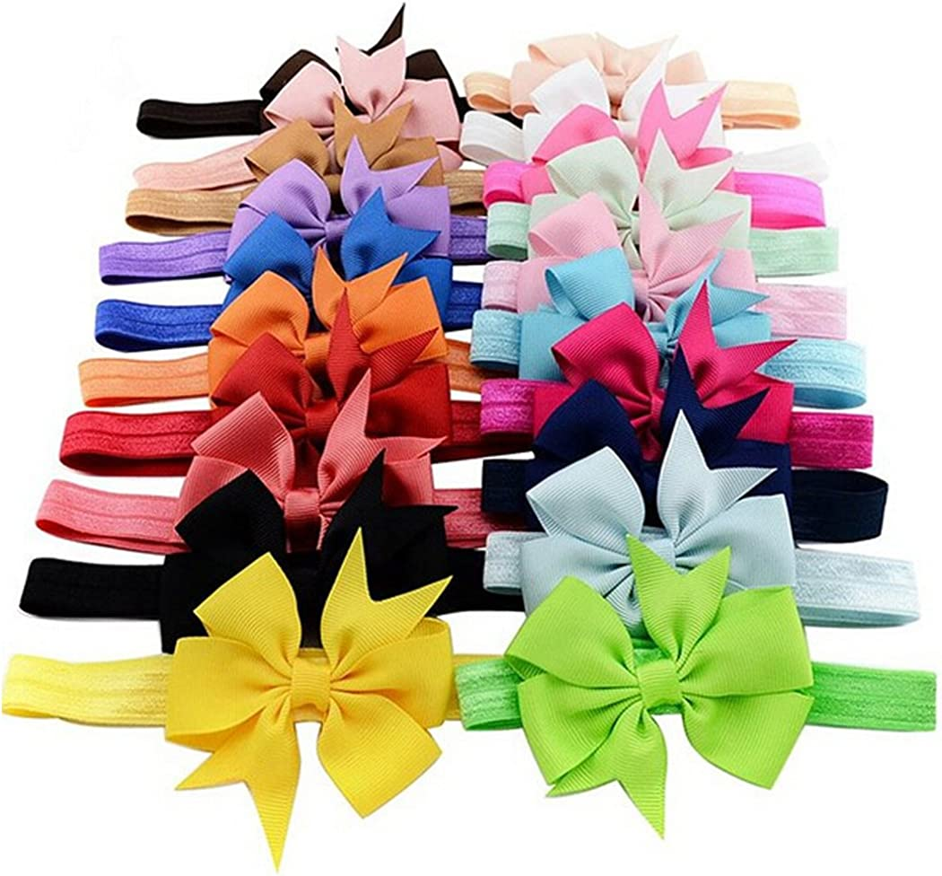 Baby Girls' Headbands and Bows Newborn Headbands Photography Hair Accessories For Toddlers 20 pieces