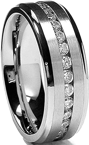Stainless Steel Cut-out Star I Will Monogram Comfort Fit Wedding Flat Band Ring