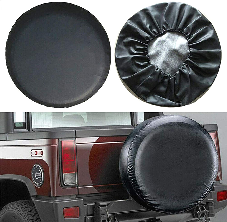 Agger 1PC PVC Waterproof Sun Protector Tire Cover Spare Wheel Tire Cover Black Spare Wheel Cover for Car Caravan Tyre