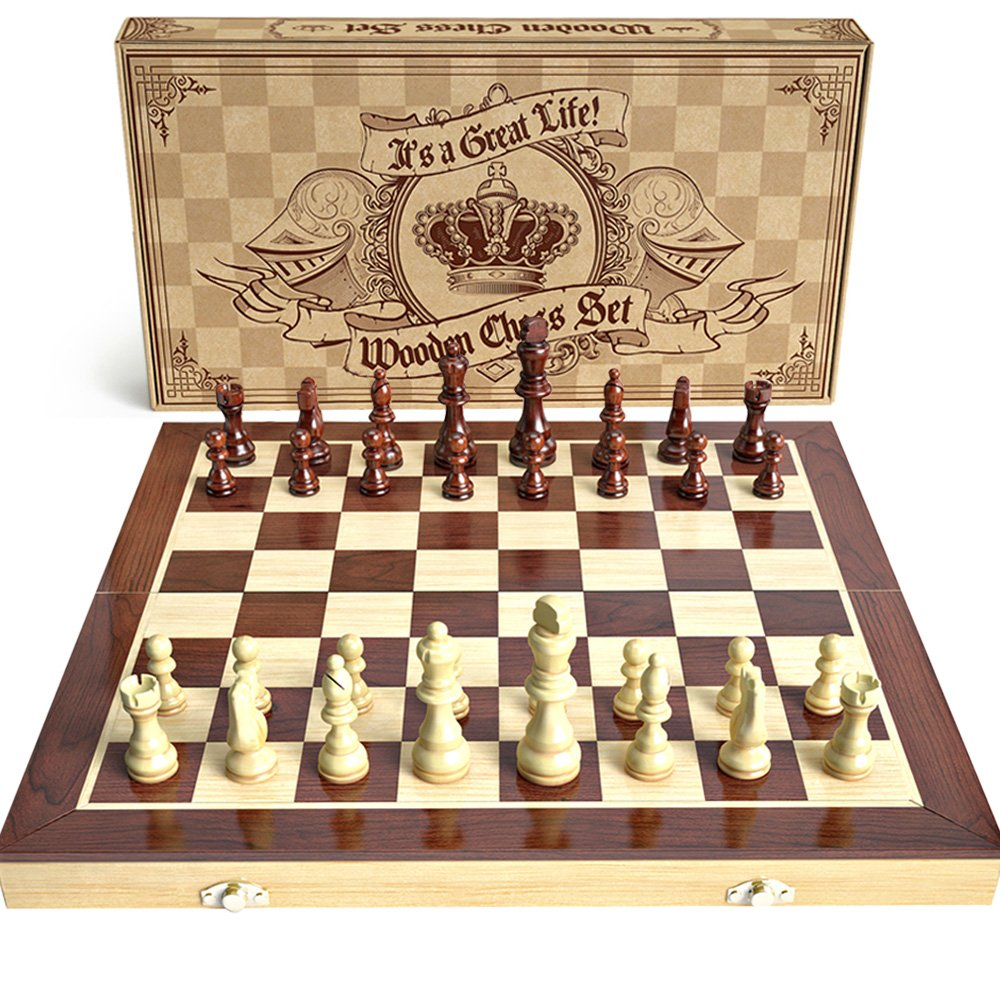 aGreatLife Wooden Chess Set: Wooden Chess Board Game Set