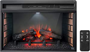 Soulaca 26 inches Electric Fireplace Insert with Heater, Freestanding