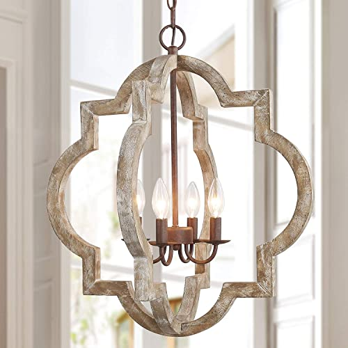 GEPOW Farmhouse Orb Chandelier