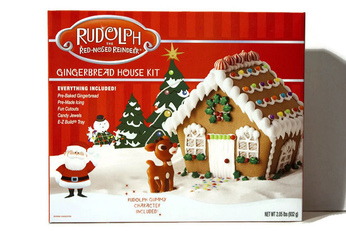 Amazoncom  Rudolph The RedNosed Reindeer Gingerbread House Kit - Gingerbread house garage