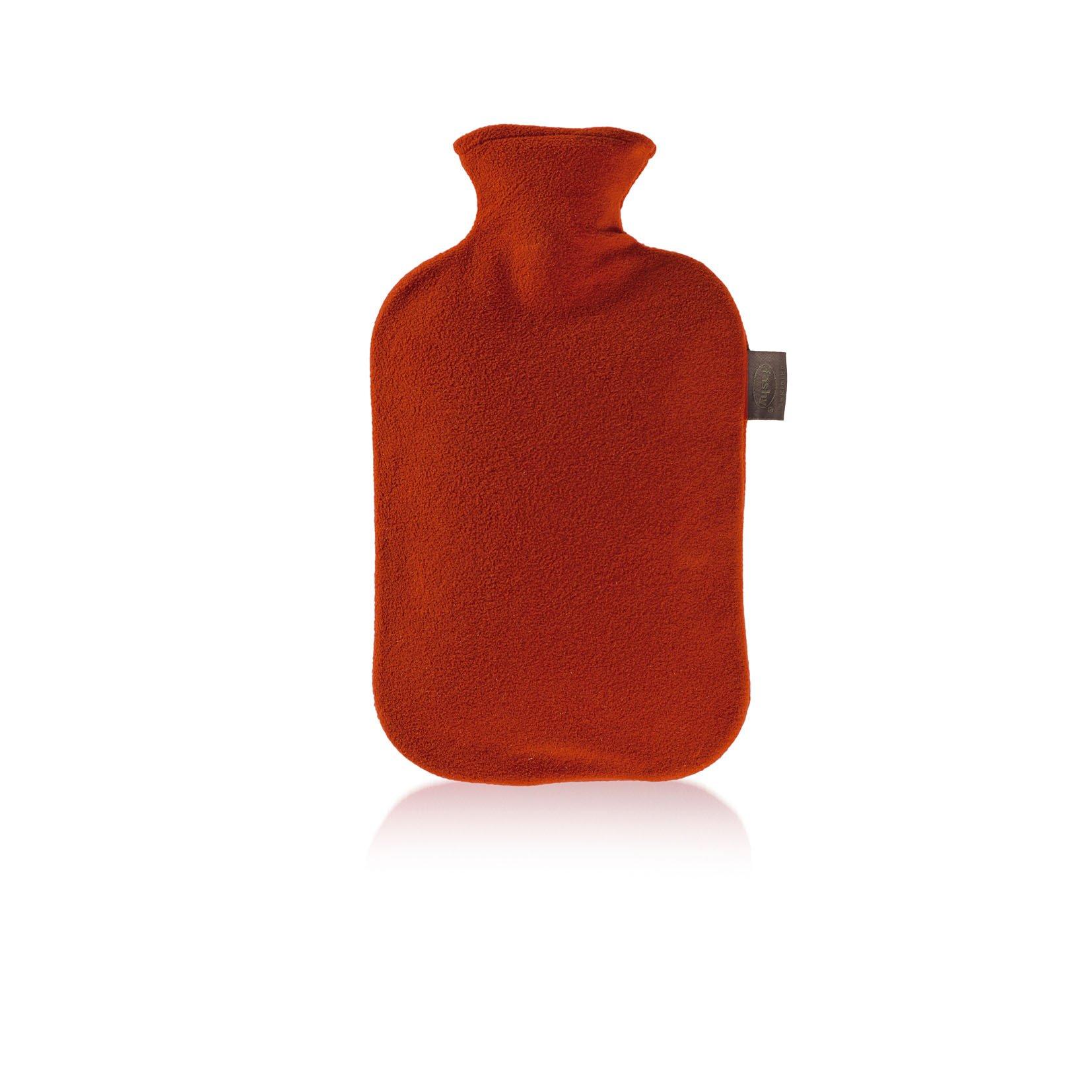 Fashy 6530 - Bolsa de agua caliente con funda de fieltro, 2 L, color