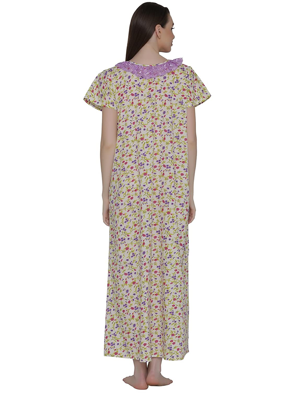 cdda695bf3 Clovia Women's Cotton Rich Floral Print Maternity Nighty: Amazon.in:  Clothing & Accessories