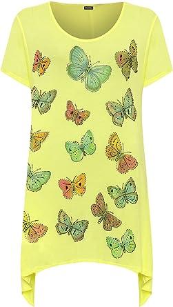 Taschentusch Wearall Übergröße Druck Damen Schmetterling Kurzarm WOXxpOn8