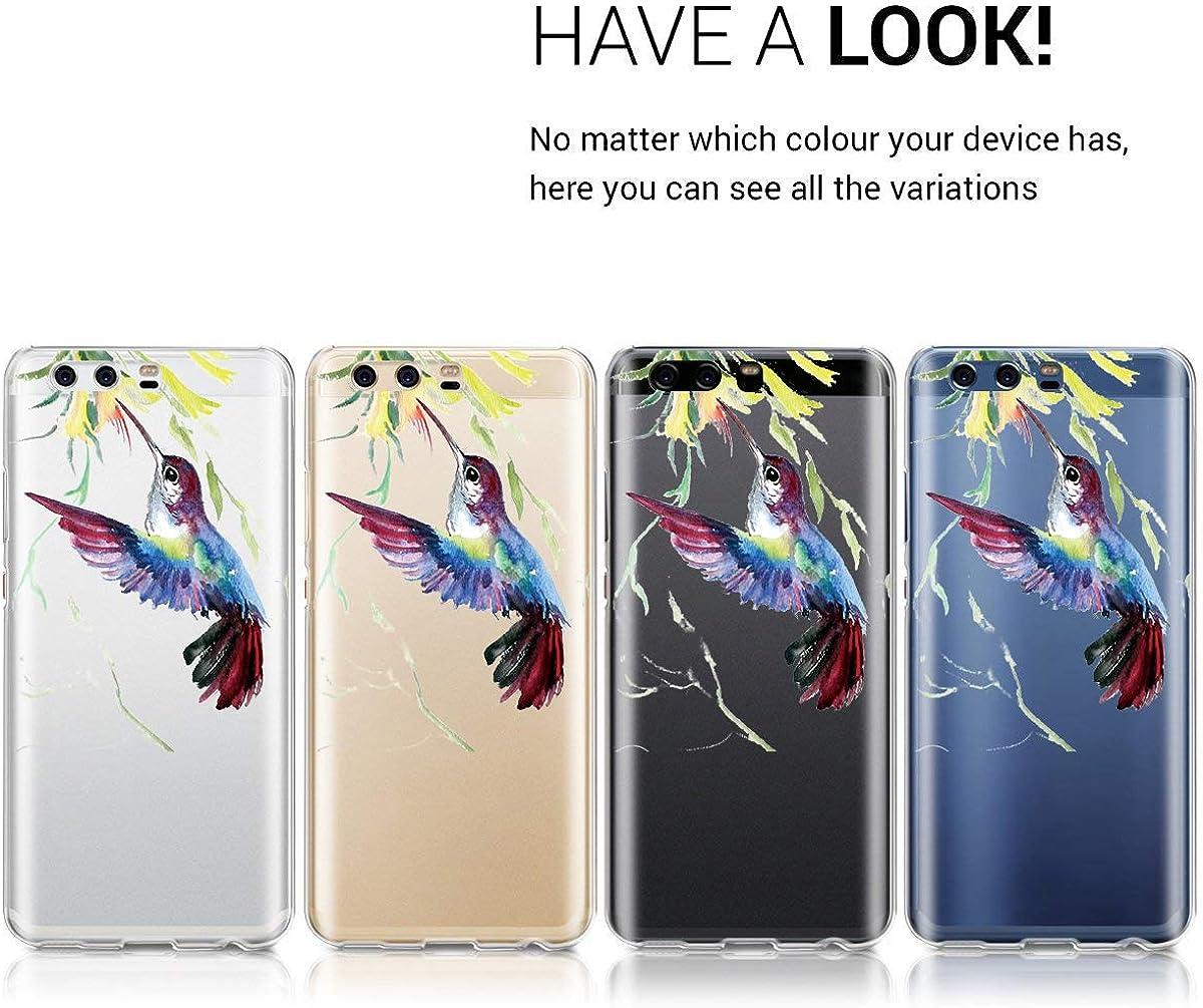 Kompatibel mit Huawei P10 lite H/ülle Floral Blumen Clear Kristall TPU Silikon Weiche Transparente Cover Anti Scratch Schutzh/ülle Bumper Cover f/ür Huawei P10 lite