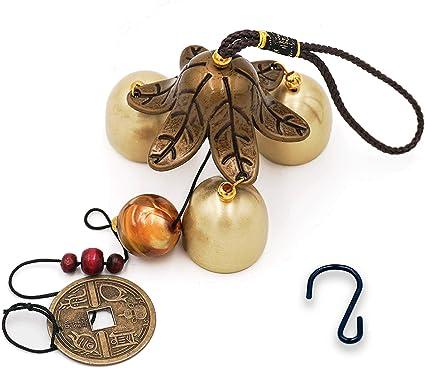 Banfeng Campana De Viento Con 3 Campanas De Viento De La Suerte Feng Shui Para La Buena Suerte En El Hogar Jardín Regalo De Decoración Jardín Y Exteriores