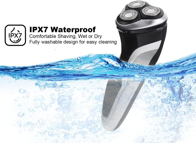 NPET ES8109 Máquina de Afeitar Eléctrica Impermeable IPX7 ...
