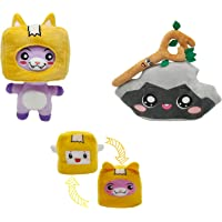 LankyBox Rocky Boxy Foxy Reversible Plush Toys Removable Toy Stuffed Anime for Children (3 Pack)