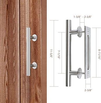 ZEKOO - Manija de puerta corredera de jardín de acero inoxidable rústico de doble cara para puerta corrediza: Amazon.es: Bricolaje y herramientas