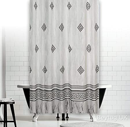 Extra Long And Wide Fabric Shower Curtain