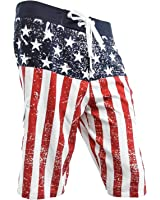 Men's USA Flag Distressed Boardshorts