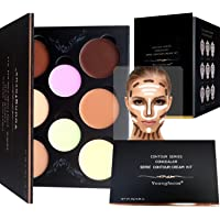 Youngfocus 8-Color Cream Concealer Palette Makeup Kit and Hypoallergenic