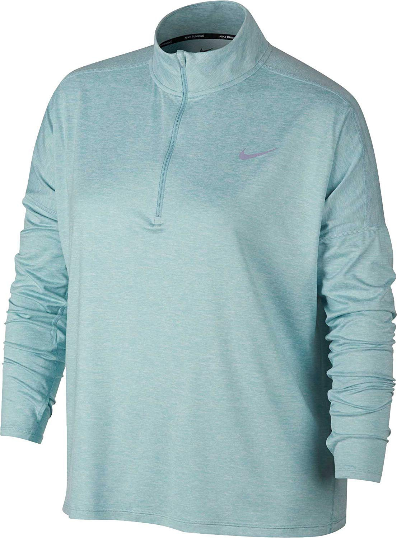 Nike Women's Plus Size Dry Element ?é?? Zip Running Shirt (Ocean Bliss, 2X)