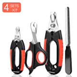 KISSIN Dog Nail Clippers Trimmer Set - Quick Safety