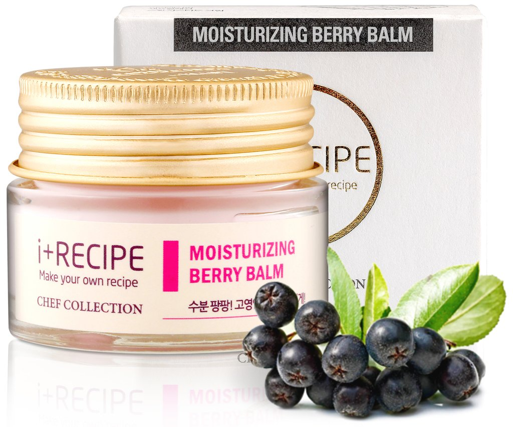 Moisturizing Berry Balm Night Cream - Daily Hydrating Facial Repair For Men and Women - Moisturizer For Face by I+Recipe - 30 ml