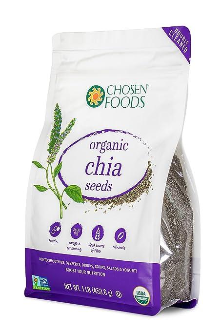 Chosen Foods - Semillas de chía - 1 libra.
