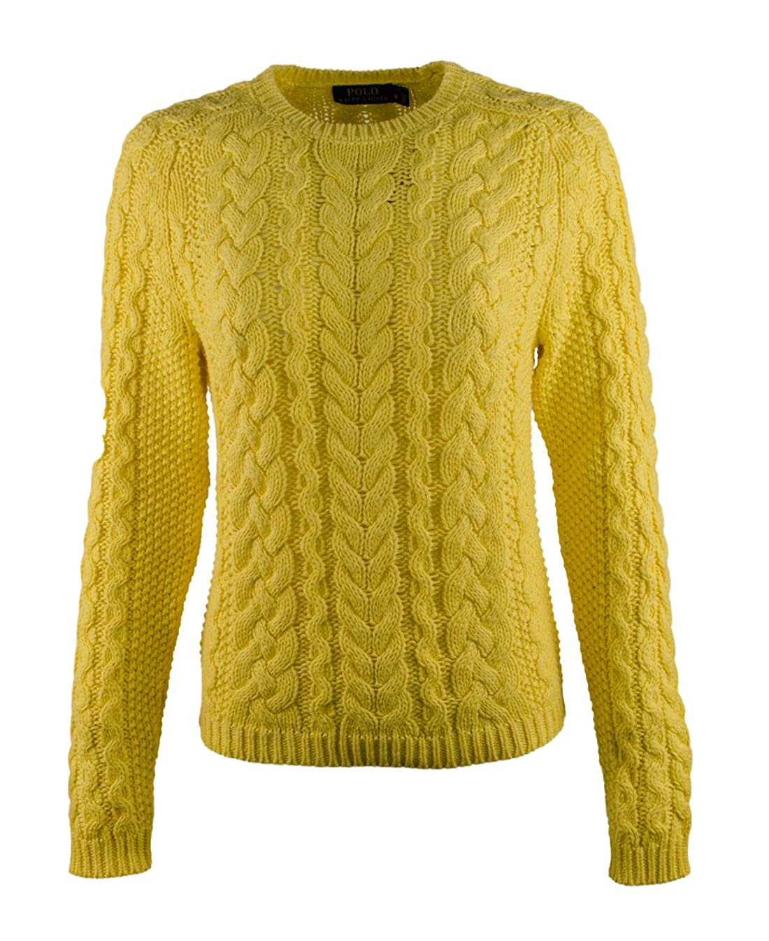 7993c1f24c Polo Ralph Lauren Women's Aran-Knit Crewneck Sweater-LC-XS at Amazon ...