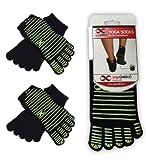 Yoga Pilates Full Toe Socks, 1 or 2 Pairs Value Pack Set, Barre, Dance, Non Slip Skid Socks, (Choose Your Colours) by YogaAddict