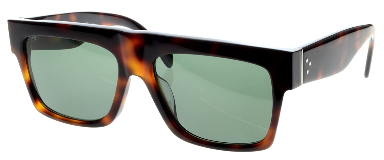 35f24582b31 Celine 41066S O5LUC Tortoise Havana Small ZZ Wayfarer Sunglasses Polarised  Lens  Amazon.co.uk  Clothing