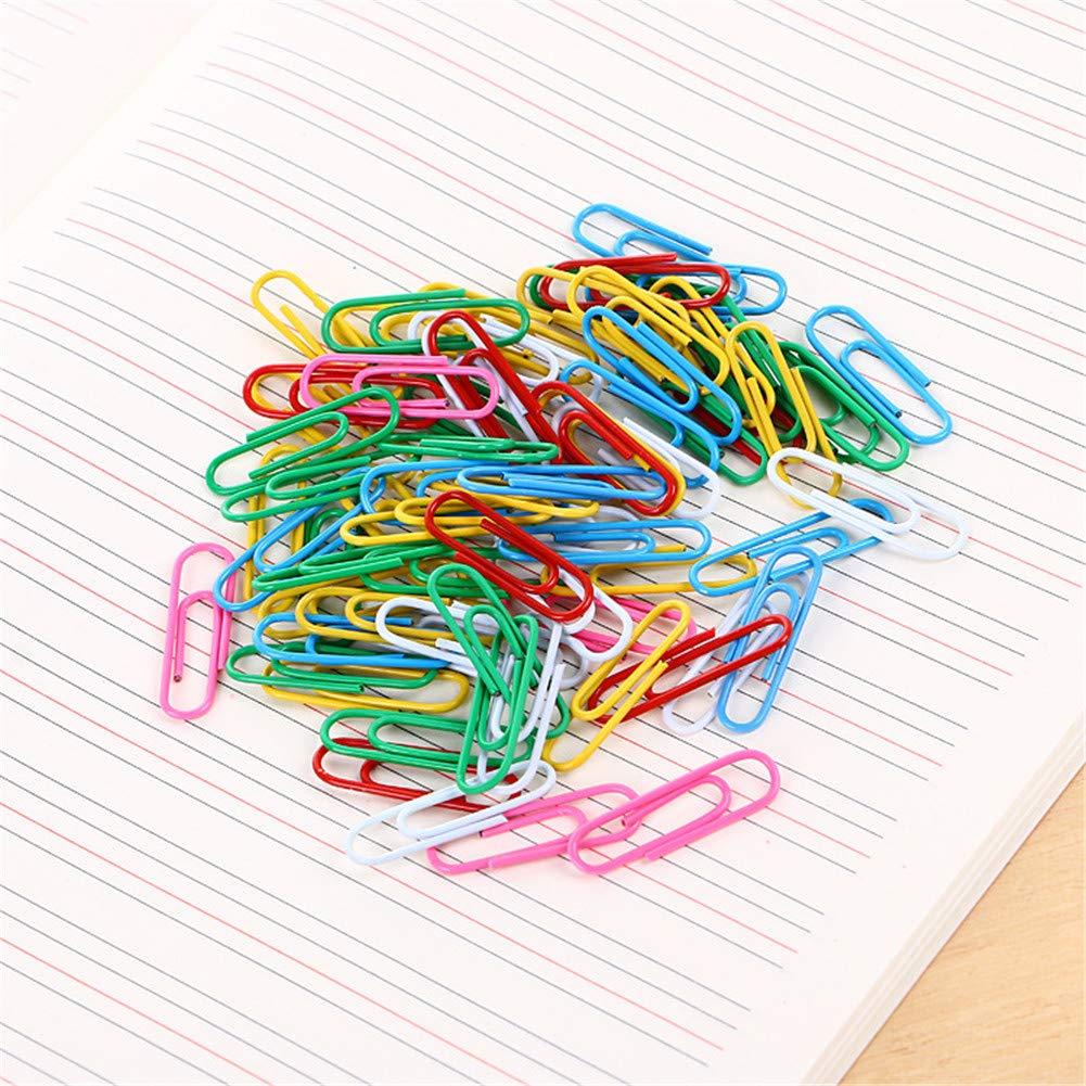 VALUEU 70pc Couleur Trombone Bureau Papeterie Couleur Sac Plastique Pin Pin bo/îte de Rangement