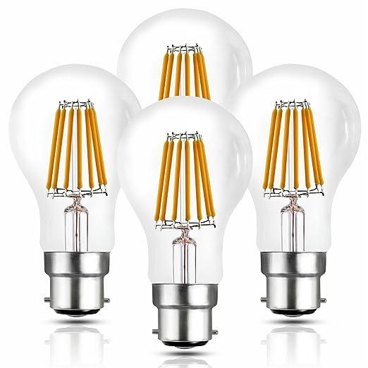 Hizashi B22 10W Bombilla LED , 1050 lúmenes, GLS Lámpara LED, 10W equivalente a