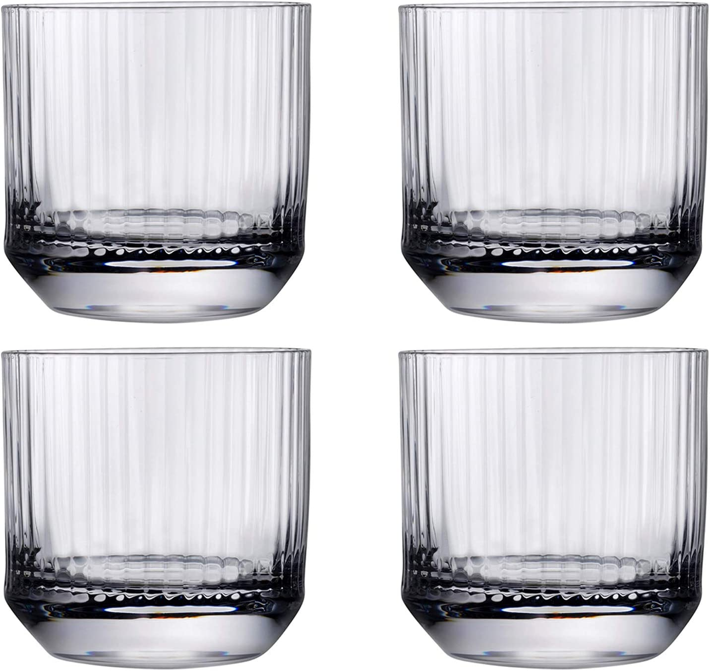 Amazon Com Nude Glass Big Top Set Of 4 Whiskey Sof Glasses Lead Free Crystal Set Of 4 Home Kitchen