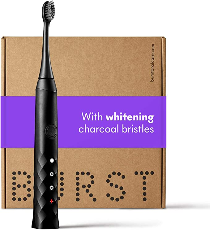 Amazon.com: BURST Electric Toothbrush with Charcoal Sonic Toothbrush Head, Black: Health & Personal Care