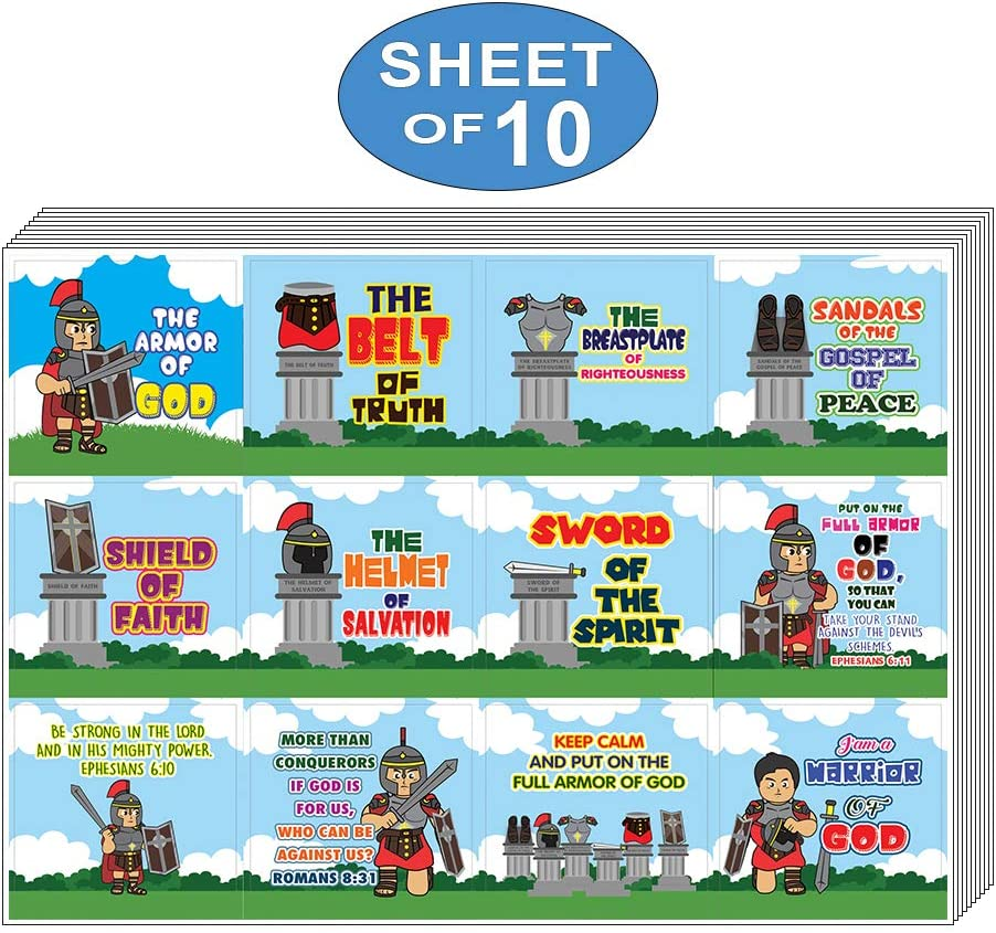 Amazon Com Neweights Armor Of God Stickers Series 1 10 Sheet