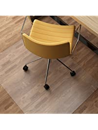 Chair Mat For Hard Floors, SLYPNOS Transparent Hard Floor Protector With  Non Studded Bottom