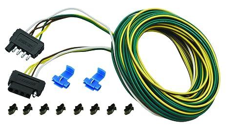 amazon com wesbar 25 ft 5 wire wishbone flat wiring harness kit wesbar 4 pin 7 wire wesbar 25 ft 5 wire wishbone flat wiring harness kit