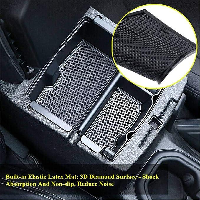 palet de tel/éfono XUKEY Organizador de consola central de coche para Jeep Wrangler JL JLU Gladiator JT accesorios con alfombrilla de goma bandeja 2018 2019 2020 2021 contenedor de tazas