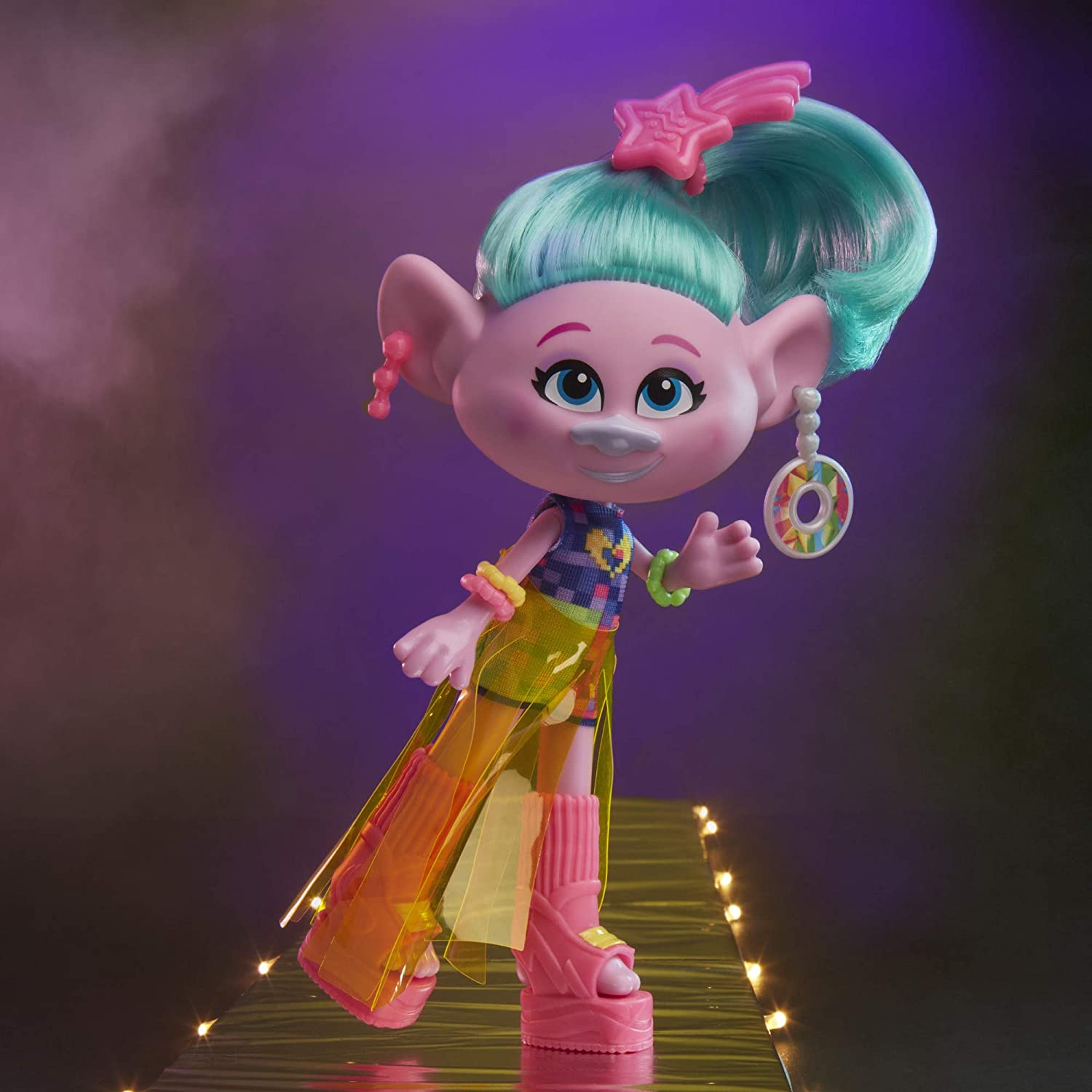 Toy for Girl 4 Years and Up Inspired by The Movie Trolls World Tour and More Shoes DREAMWORKS TROLLS Glam Satin Fashion Doll with Dress