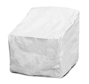 Incredible Koverroos Dupont Tyvek 29302 Deep Seating Super Lounge Chair Cover 43 Inch Width By 40 Inch Diameter By 31 Inch Height White Evergreenethics Interior Chair Design Evergreenethicsorg
