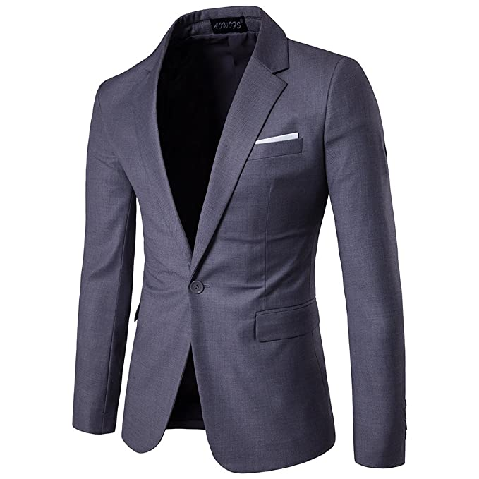 Amazon.com: Pantalones de traje de un botón Slim Fit ...