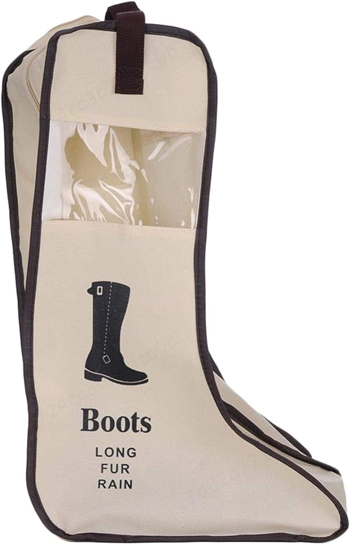 Chaussures Organisateur Sacs Portable Protection Voyage Longue Bottes Couverture Container 1pc KOKO Zhu Beige Bottes antipoussi/ère Pliable Sac de Rangement