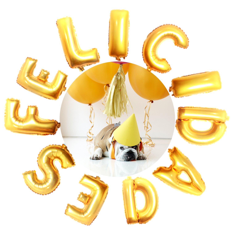 KINGTOP Globos Felicidades Decorados para fiestas Suministros y Decoración para Fiesta & Festivas Lujo Colores Variados Globo Grande de Aluminio y Látex ...