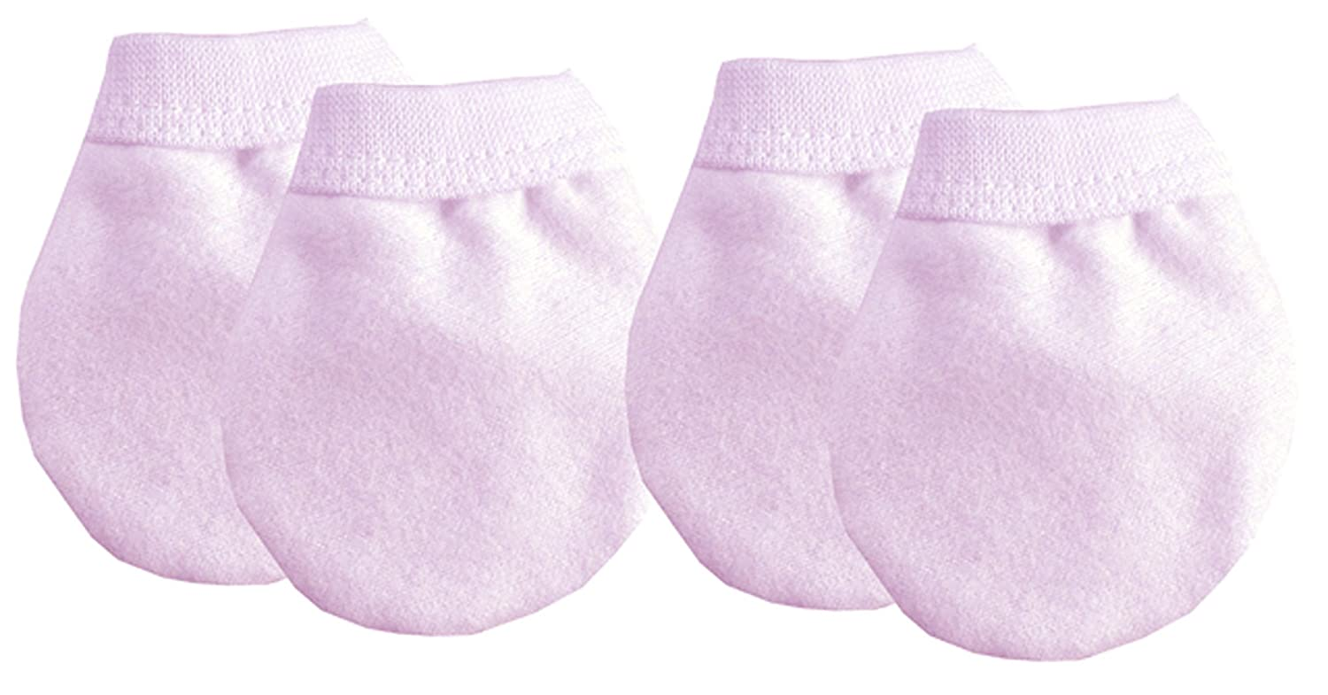 Baby Anti Scratch Mittens (Pink) Soft Touch