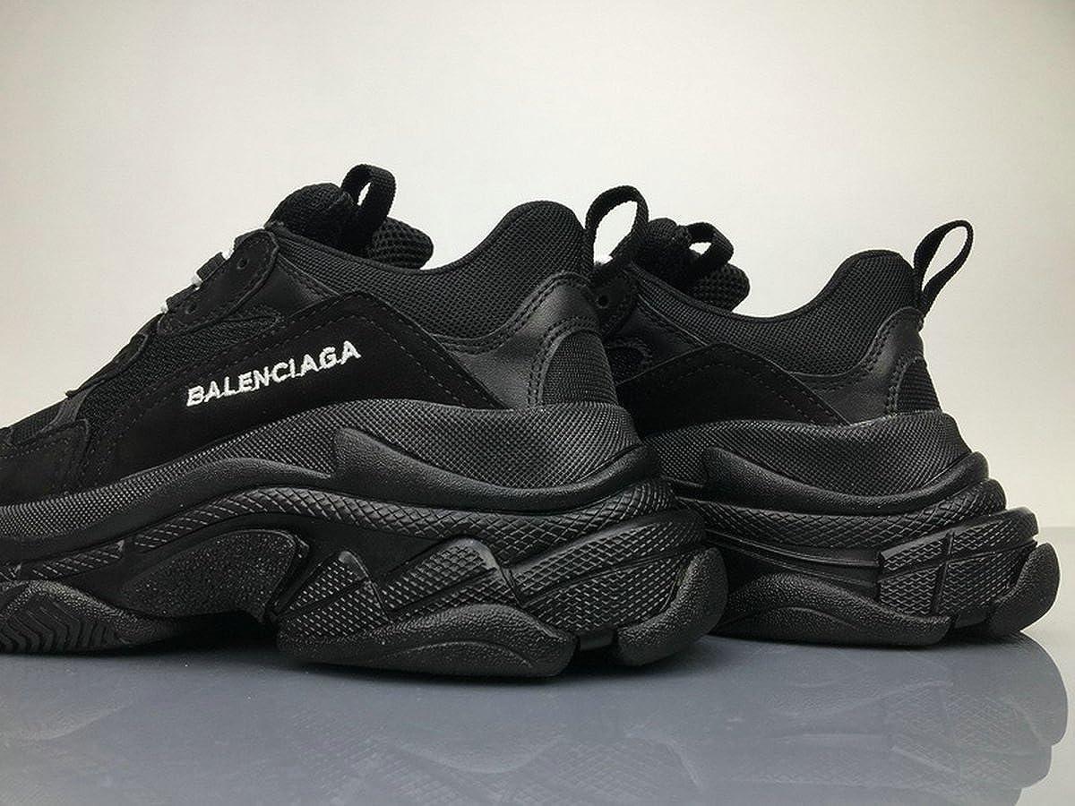 BestVIPP Unisex Balenciaga Sneakers Balenciaga Triple S Sneakers All Black Hombre Mujer Zapatillas: Amazon.es: Zapatos y complementos