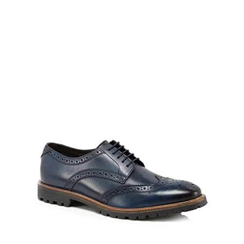 Base London Mens Navy Leather 'Trench' Brogues 9