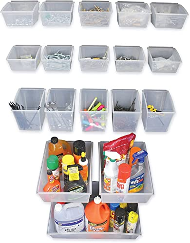 Proslat 03250 Probin Storage Bin Kit Designed for PVC Slatwall, 18-Piece