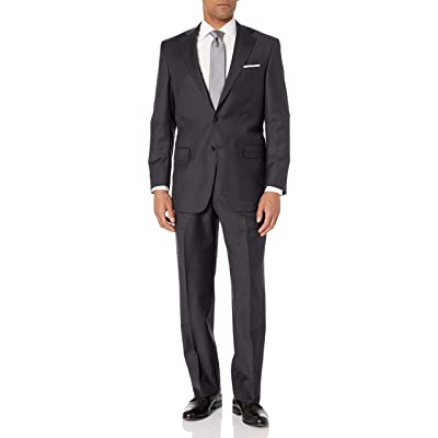 Hart Schaffner Marx Men's 2 Button Chicago Fit Suit with Single Pleat Pant at Amazon Men's Clothing store