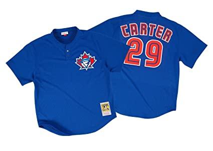 competitive price aefc5 e1bb4 Mitchell & Ness Joe Carter 1997 Toronto Blue Jays Authentic BP Blue Jersey  Men's