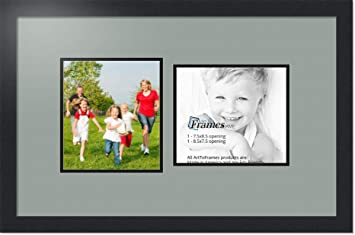 Amazoncom Arttoframes Collage Photo Frame Double Mat With 2 75x8