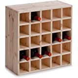 Zeller 13172 - Botellero de madera natural (52 x 25 x 52 cm)