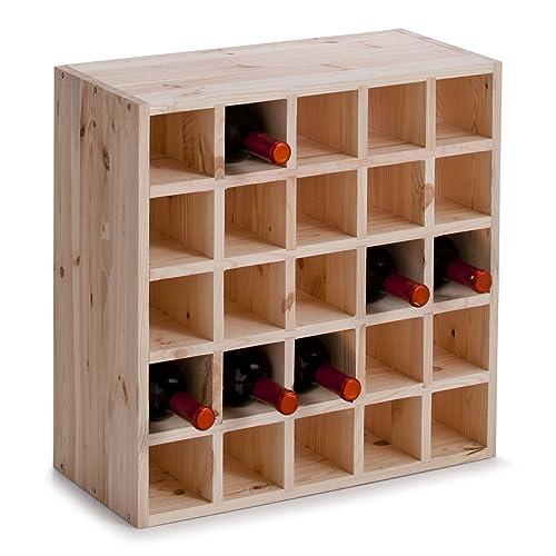 zeller 13172 casier vin en bois naturel 52 x 25 x 52 cm
