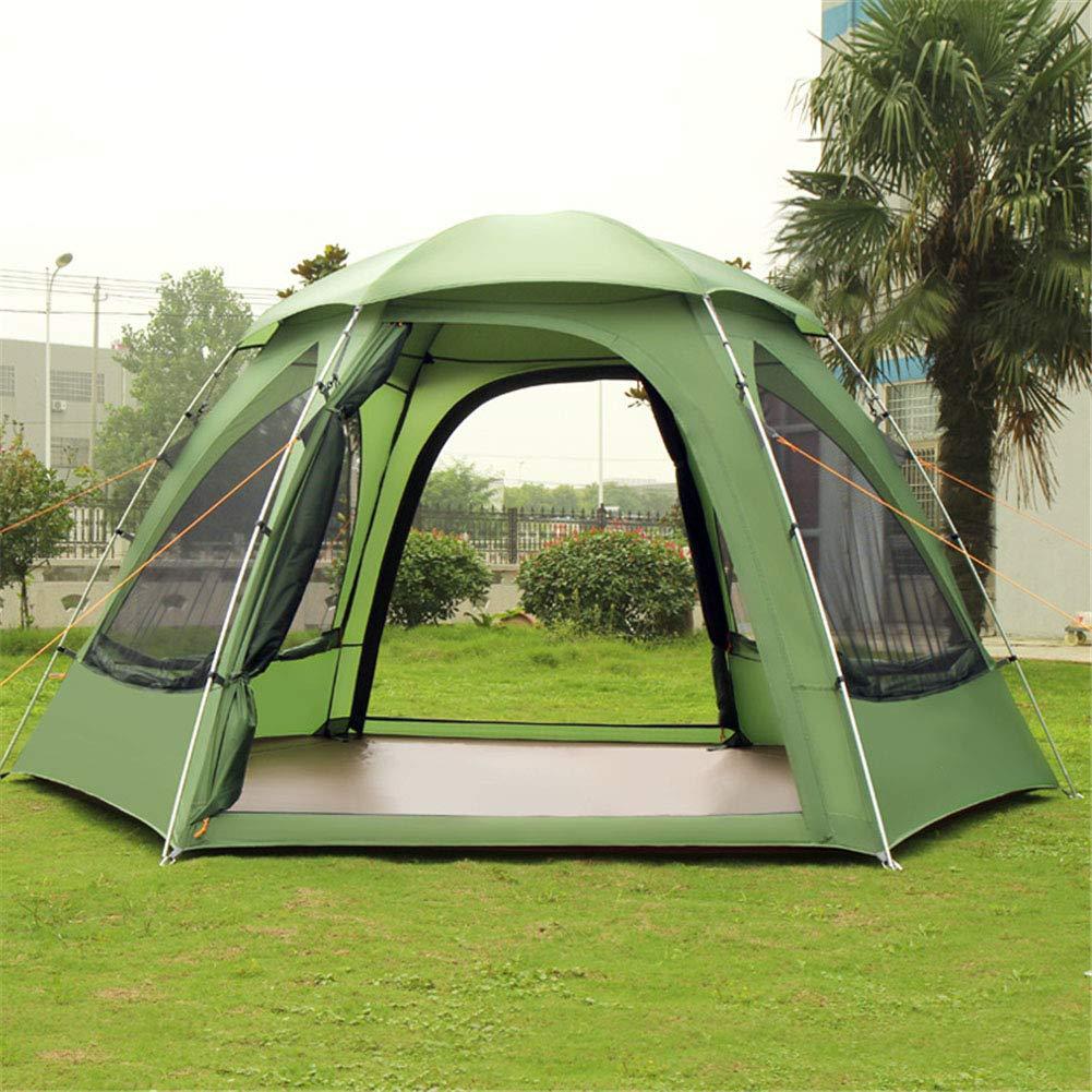 Zelt, EIN Zimmer und Wohnzimmer EIN Wohnzimmer und mit leichtem Außenraum Camping Wanderzelt 3-4 Personen Aluminum Rod Wasserdichte Zelte 264e0a