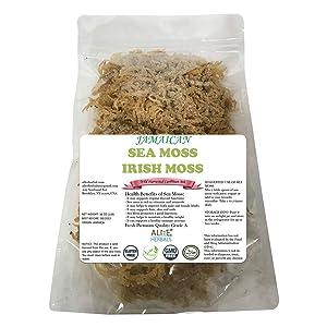 Sea Moss - Premium Irish Moss Super food | 16 Oz | Sea Moss is Rich in the Vitamins and Minerals | Immune Support Immune Booster | Jamaican | 100% Wild crafted | Non GMO | Vegan | Sun Dried
